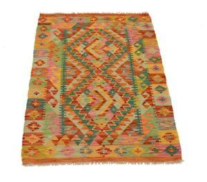 Afghan Kelim 117x84 cm Handgewebter afghanischer Orient Kelim Neu Multicolor