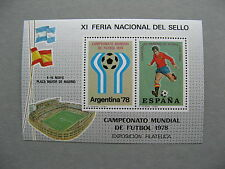 SPAIN, non-postal S/S 1978, WC soccer football