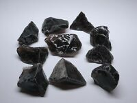 10 Obsidian Specimen 1 Lb Clear Smoky Black Natural Volcanic Glass Mineral 23366