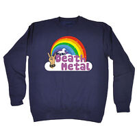 Death Metal Unicorn Rainbow SWEATSHIRT jumper punk rock heavy birthday gift 123t