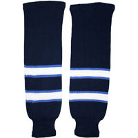 Winnipeg Jets NHL Knitted Classic Hockey Socks - Navy White