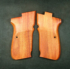 Rosewood Checkered Grips Set For CZ 83 #234