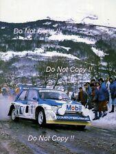 Malcolm Wilson MG Metro 6R4 Monte Carlo Rally 1986 Photograph