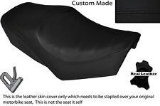 Negro Stitch Custom Fits Yamaha especial Sr 250 Doble Cuero Funda De Asiento