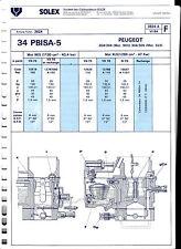 Fiche SOLEX 34 PBISA - 5 - Peugeot - 204/ 304 - 304/305