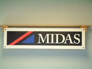 Midas sports cars workshop Garage show banner Motorsport Gold Cortez Bronze
