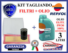 KIT TAGLIANDO FILTRI + OLIO REPSOL 5W30 LANCIA Y YPSILON II 1.2 16V 49-51 kw