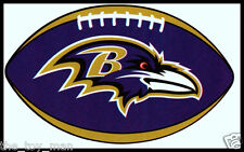 BALTIMORE RAVENS OVAL FOOTBALL NFL LICENSED TEAM LOGO INDOOR DECAL STICKER