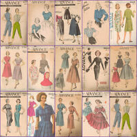 Vintage Advance Sewing Pattern Ladies Clothes Vtg Misses Sizes Your Choice