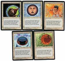 Black Blue Red White Green CoP 5x card set Circle of Protection Magic Ice Age IA