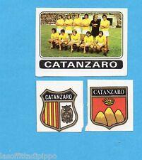 FIGURINA PANINI 1972/73-n.391- CATANZARO - SQUADRA+SCUDETTO+STEMMA-Rec