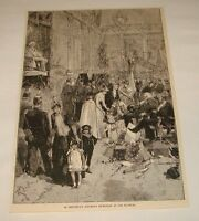 1886 magazine engraving ~ CHEVREUL'S BIRTHDAY RECEPTION, Paris