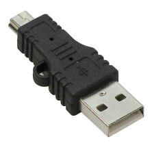 USB Type A Male to 5-Pin Mini-USB Type B Male Adapter.Brand New.Black.