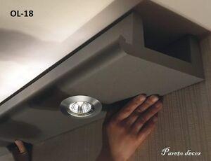 10 Meter LED Licht Bebauung Stuckleiste für indirekte Beleuchtung XPS OL-18