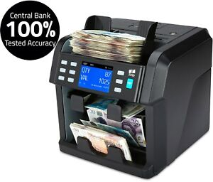 Money Note Counter Machine Currency Banknote Mixed Value Counting Cash ZZap