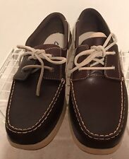 Clarks Brown Lace up loafers ladies oxfords Size 12 M