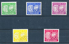 ZIMBABWE 1980 POSTAGE DUES SG D23/27  FINE USED