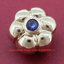 Real Solid 9k Rose Gold Natural Amethyst Bead Charm 4 European Bracelet Necklace