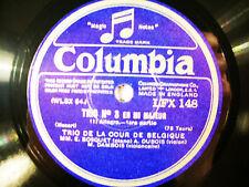 2x 78rpm TRIO DE LA COUR DE BELGIQUE plays MOZART Trio No.4 - TOP COPIES !