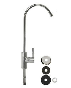 """Mini Luxury Swan Neck Tap Chrome Plated Faucet for Drinking Water Filter 1/4"""""""