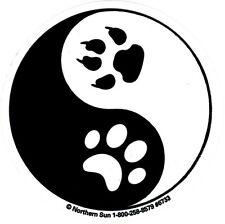 Yin Yang Paw Prints - Small Bumper Sticker / Decal
