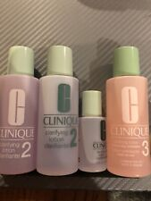 4 CLINIQUE Clarifying Lotion 3 And 2 - Travel Size 2oz And .5oz Each. New