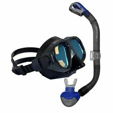 BWS COLOUR ENHANCE Pro Mask Snorkel Set with Protective Mask Box- Blue