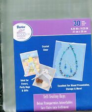 30 Crystal Clear Self-Sealing Bags 8 x10 Quilling-Scrapbook-Cardmaking-Storage