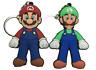 Super Mario Bros - Luigi Mario Keyring -Keychain PVC Key Chain Ring Kart Cartoon