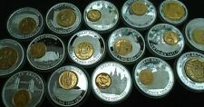 More details for history of british currency proof medalions & coins gold and silver plated