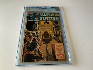 ALL STAR WESTERN 10 CGC 7.0 1ST APPEARANCE JONAH HEX DC COMICS BATLASH 1972