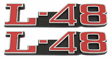 1973-1982 Corvette Hood Emblem L48 Pair L-48 Made in the USA