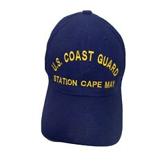 Cape May New Jersey Uscg Snapback Hat United States Coast Guard Navy Gold