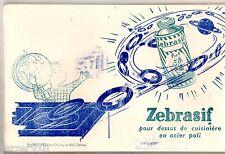 LOT de 18 BUVARD PUBLICITAIRE ANCIEN - ZEBRASIF POUR CUISINIERE - ETS RECKITT