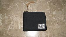 Herschel Supply Co Zip Around Wallet Black Credit Card Coin Zippered Case Mini