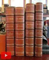 George Bernard Shaw 4 Novels 1920's leather books Irrational Knot Artists Social