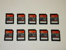 Lot of 10 SanDisk 2GB Ultra SD Card Memory Cards Camera Speed Class 4~ CLEARED