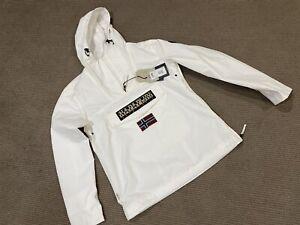Napapijri Summer Rainforest Rain Jacket Shell Man Size S Colour White