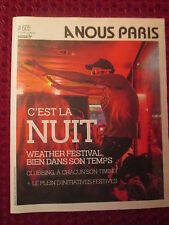 COVER COUVERTURE A NOUS PARIS C EST LA NUIT PARIS BY NIGHT FEVER DJ DISC JOKEY