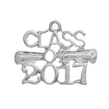 5 pcs 2017 Graduation Cap charms, diploma, 26x20mm, chs2569