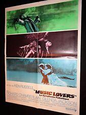MUSIC LOVERS  ! ken russell  affiche cinema musique 1970