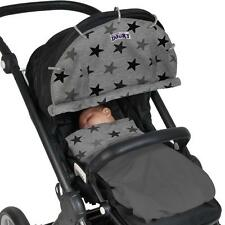 Dooky Universal Sun Shade for Pram Car Seat Pushchair UV40+ Protection GREY STAR