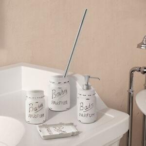 Set accessori bagno da appoggio in ceramica stile shabby chic Gedy Catherine