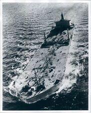Oil Supertanker Ship at Sea Ewing Galloway Press Photo