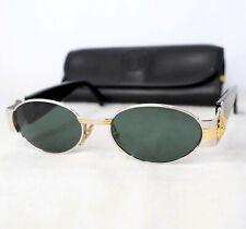 GIANNI VERSACE S72 sunglasses vintage silver gold gray black oval medusa head