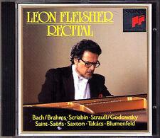 Leon FLEISHER: Takacs Saint-Saens Bach Brahms Godowsky Scriabin Saxton CD