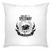 Biker Cushion Cover Speedway Classics Motorbike Racing Logo Racing Speed Track