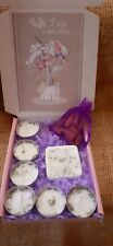 Grans favourite LARGE LAVENDER Gift Box 6 Tea Lights Candles, 1x Soy Wax Melt