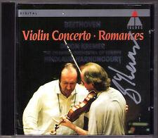 Gidon KREMER Signiert BEETHOVEN Violin Concerto HARNONCOURT CD Romance Rosette