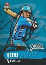 ✺Signed✺ 2015 2016 ADELAIDE STRIKERS Cricket Card TRAVIS HEAD Big Bash League